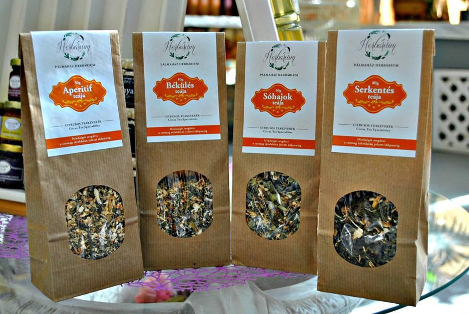 A Pálmaház Herbárium saját ihletésű teakeverékei